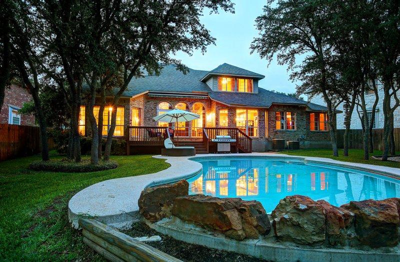 Twilight Backyard